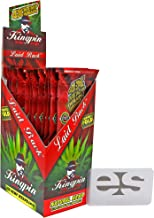 KingPin Pure Hemp Laid Back Flavored Wraps (Box of 25 Packs, 4 Wraps Per Pack) with ES Scoop Card
