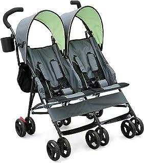 Best Delta Children LX Side by Side Tandem Umbrella Stroller, Lime & Green Review