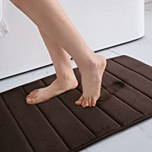 Colorxy Memory Foam Bath Mat - Soft & Absorbent Bathroom Rugs Non Slip Large Bath Rug Runner for Kitchen Bathroom Floors 1...