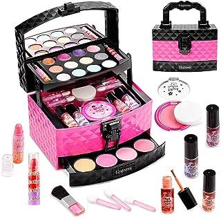 Vextronic Princess Make Up Kit for Little Girl - 29 Pcs Washable Kids Makeup Set - Pretend Makeup...