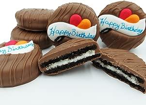 Philadelphia Candies Milk Chocolate Covered OREO Cookies, Happy Birthday Gift Net Wt 8 oz