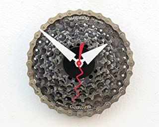 bike gear clock, bicycle, gear, clock, cyclist, gift, Recycled, Bike, Gear, boyfriend, girlfriend, unique, repurposed, reu...