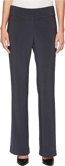 Krazy Larry - Microfiber Long Slight Flare Pants