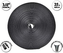 Dual Wall Adhesive Marine Heat Shrink - 25 Ft Roll - 3/4 Inch Diameter - Black