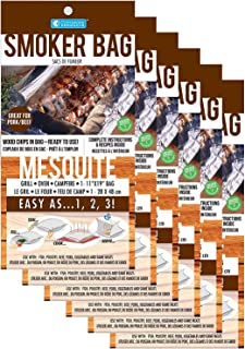 Smoker Bags - Mesquite Smoker Bags with Built in Wood Chips (6-count) - Easily Infuse Smoke Flavor in any Oven or BBQ