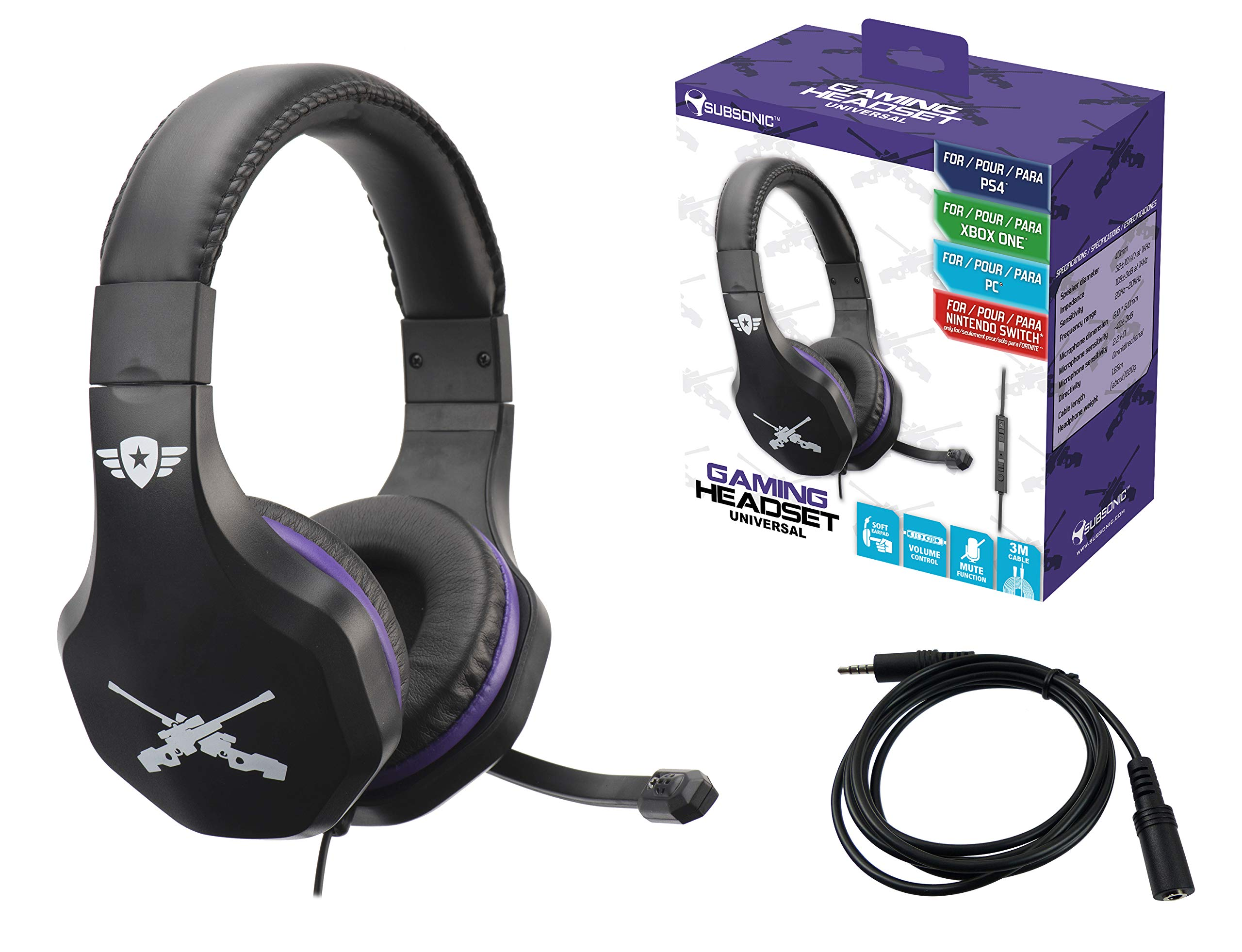 Casque Gaming Avec Micro Pour PlayStation 4 - PS4 Slim - PS4 Pro - Xbox One Universal Purple