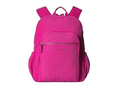 Vera Bradley Iconic Campus Backpack (Rose Petal) Backpack Bags