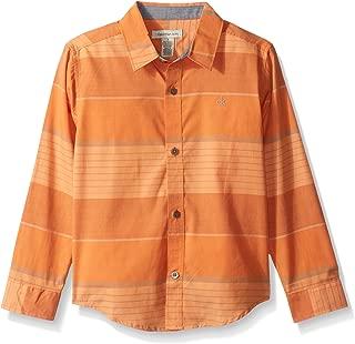 Calvin Klein Boys' Blocked Horizontal Stripe Long Sleeve Shirt