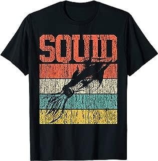 Squid T-Shirt Retro Vintage Marine Biologist Tshirt