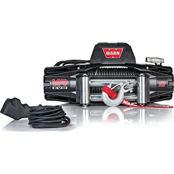 "WARN 103254 VR EVO 12 Electric 12V DC Winch with Steel Cable Wire Rope: 3/8"" Diameter x 85' Length, 6 Ton (12,000 lb) Pulling Capacity"
