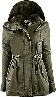 OLLIE ARNES Women's Versatile Utilitarian Warm Anorak Drawstring Parka Jacket