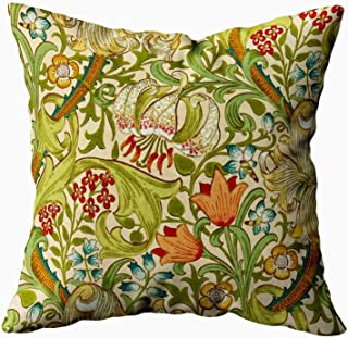 Musesh william morris golden lily vintage pre raphaelite Cushions Case Throw Pillow Cover For Sofa Home Decorative Pillowslip Gift Ideas Household Pillowcase Zippered Pillow Covers 18x18Inch
