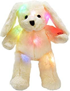 WEWILL LED Bunny Stuffed Animals Glow Rabbit with Floppy Long Ears Nightlight in Dark Gift for Kids on Birthday Easter Chr...