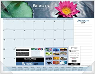AT-A-GLANCE Desk Pad Calendar 2017, Monthly, 21-5/8 x 16-7/8