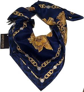 Roberto Cavalli C3602C840 307 Blue/Gold Jewel Scarf for womens