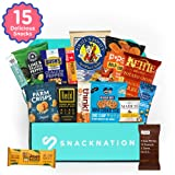 SnackNation - Ultra-Premium Healthy Snack Box Subscription Deluxe Variety Bars, Chips, Sweets for Gifts, Holidays, Celebrations: 15 Snacks