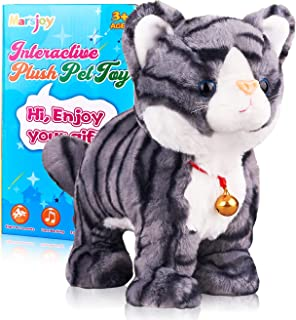 JIANGUO Cat Baby Plush with Authentic Cat Sound,Creative Cat Decor,Stuffed Animal Toys Gifts for Kids
