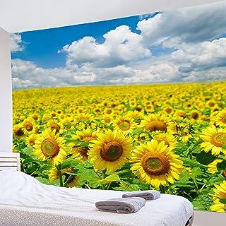 LB 自然風景タペストリー ひまわり インテリア 壁掛け おしゃれ 室内装飾タペストリー 多機能 カバー カーテン 個性プレゼント 母の日ギフト 新居祝い 150x100cm