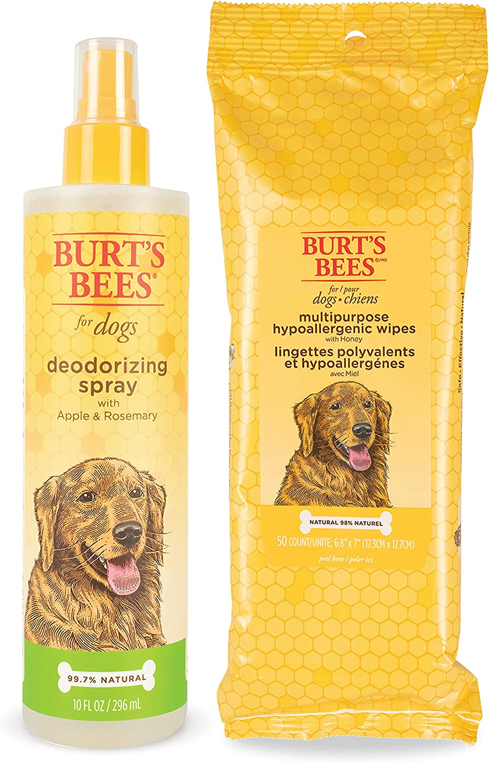 Burt's Bees For Dogs National uniform free shipping Hypoallergenic Wipes Multipurpose Grooming shopping