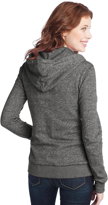District Juniors Marled Fleece Full-Zip Hoodie