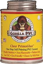 GORILLA PVC R08000 Pvc Glue 8 OZ, Clear