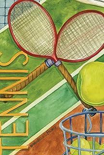 Toland Home Garden Game Point 28 x 40 Inch Decorative Sport Tennis Racket Ball Court House Flag