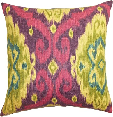 The Pillow Collection Deandre Ikat Throw Pillow Cover