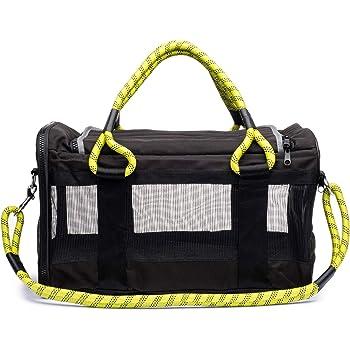 ROVERLUND Pet Travel Bag, Car Seat & Airline Compliant Carrier. Includes Bonus Leash. Stylish. Durable.