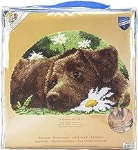 Vervaco Chocolate Labrador Shaped Rug Latch Hook Kit, 27.5