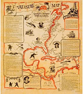 Historical Documents Treasure Map Poster 23 X 29