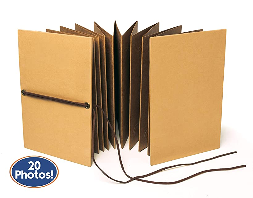 Bastex Small Scrapbook. Kraft Hardcover Photo Album, Fits 4x6 Inch Photos. Perfect for DIY Hand Made Scrap Booking, Our Adventure Book, Memory Albums, Wedding, Anniversary Gifts and Travel.