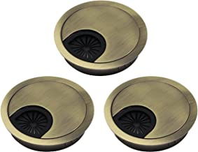 Xntun 3 Pcs Metal Cable Grommet Desk Grommet Cable Cord Hole Cover Fits 2-3/8inch Hole(Bronze)