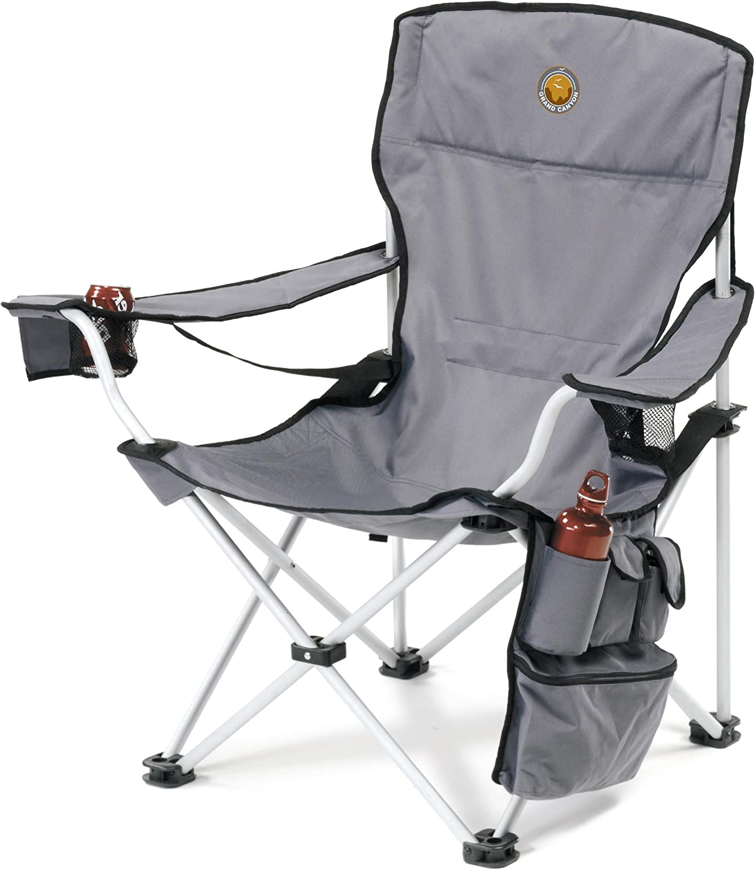 Grand Canyon VIP  folding camping chair, aluminium, grey black, 308018