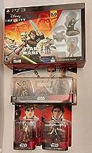 Disney Infinity 4 Pack Bundle 3.0 - Star Wars Starter Pack, Force Awakens Playset, Poe Dameron, Han Solo Figures (Playstat...
