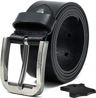 b63896148fe053 Cartvelli Premium Leather Belt Men's Model 2019 - Made in Germany - Width 4  cm -