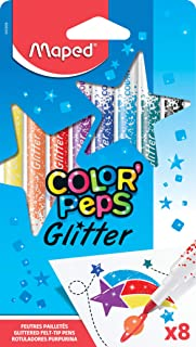 Maped Color'Peps Glitter Colouring Felt Tip Pens (Pack of 8)