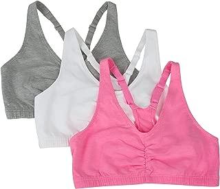 Women's Adjustable Shirred Front Racerback Bra (Pack of 3)