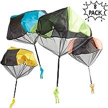 Paquete de 8 Soldaditos con Paracaidas - Colores surtidos, no se enreda, excelente juguete para niños y niñas, horas de diversión.