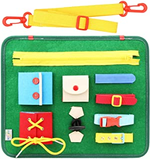 Ecovana - Toddler Busy Board Colourful Activity Sensory Play Set to Stimulate Motor Skills, Learning & Fun Educational Too...
