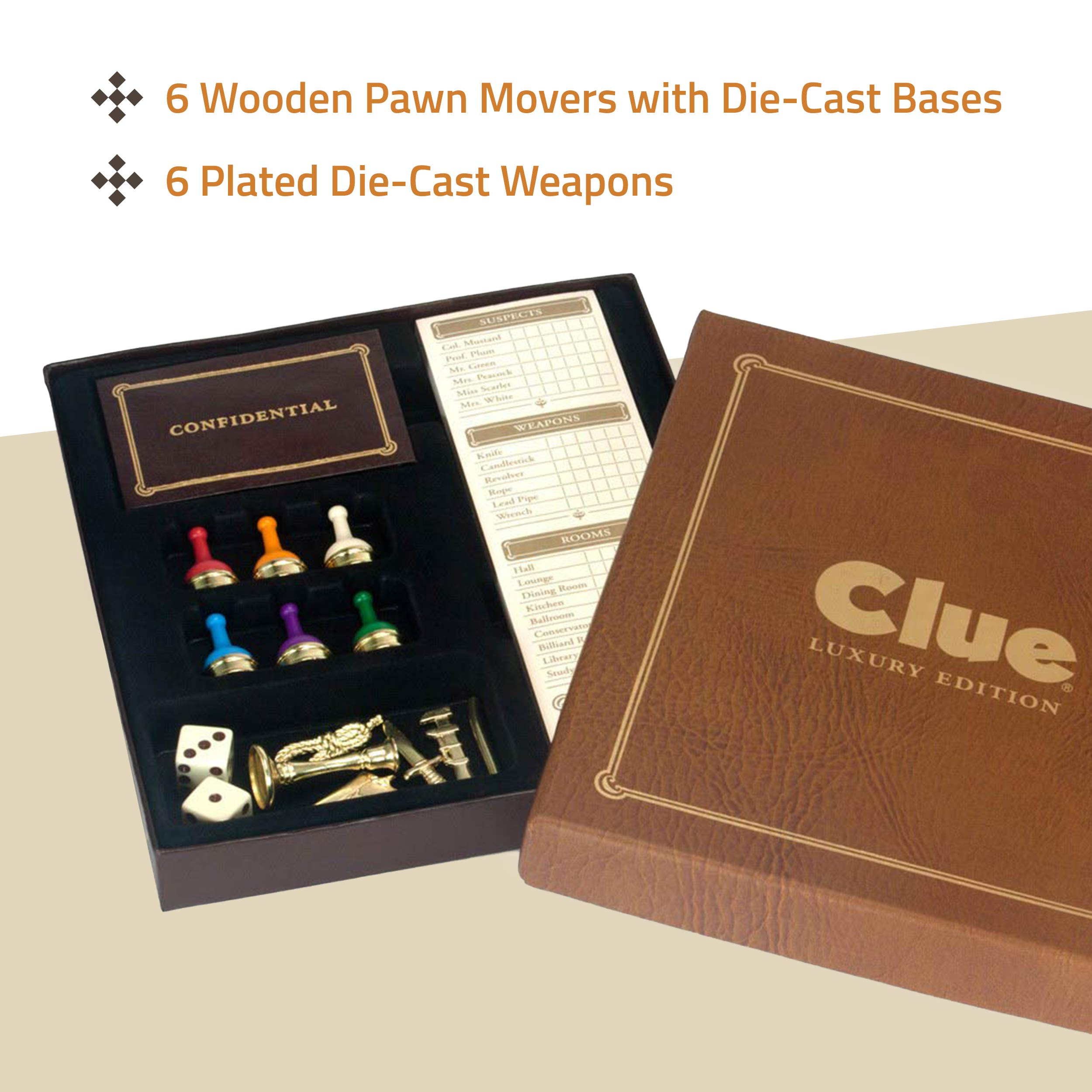 Clue Luxury Edition Board Game by Winning Solutions by Winning Solutions: Amazon.es: Juguetes y juegos
