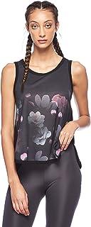 "BodyTalk Women's BLOSSOMW Sleeveless""Blossom"" T-Shirt, Black, Small"
