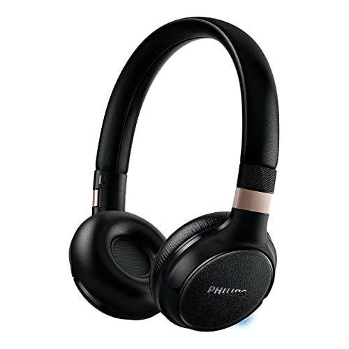 Philips SHB9250 Casque Audio Bluetooth sans fil avec Micro, Commandes Smart Touch, Léger et Confortable, Noir