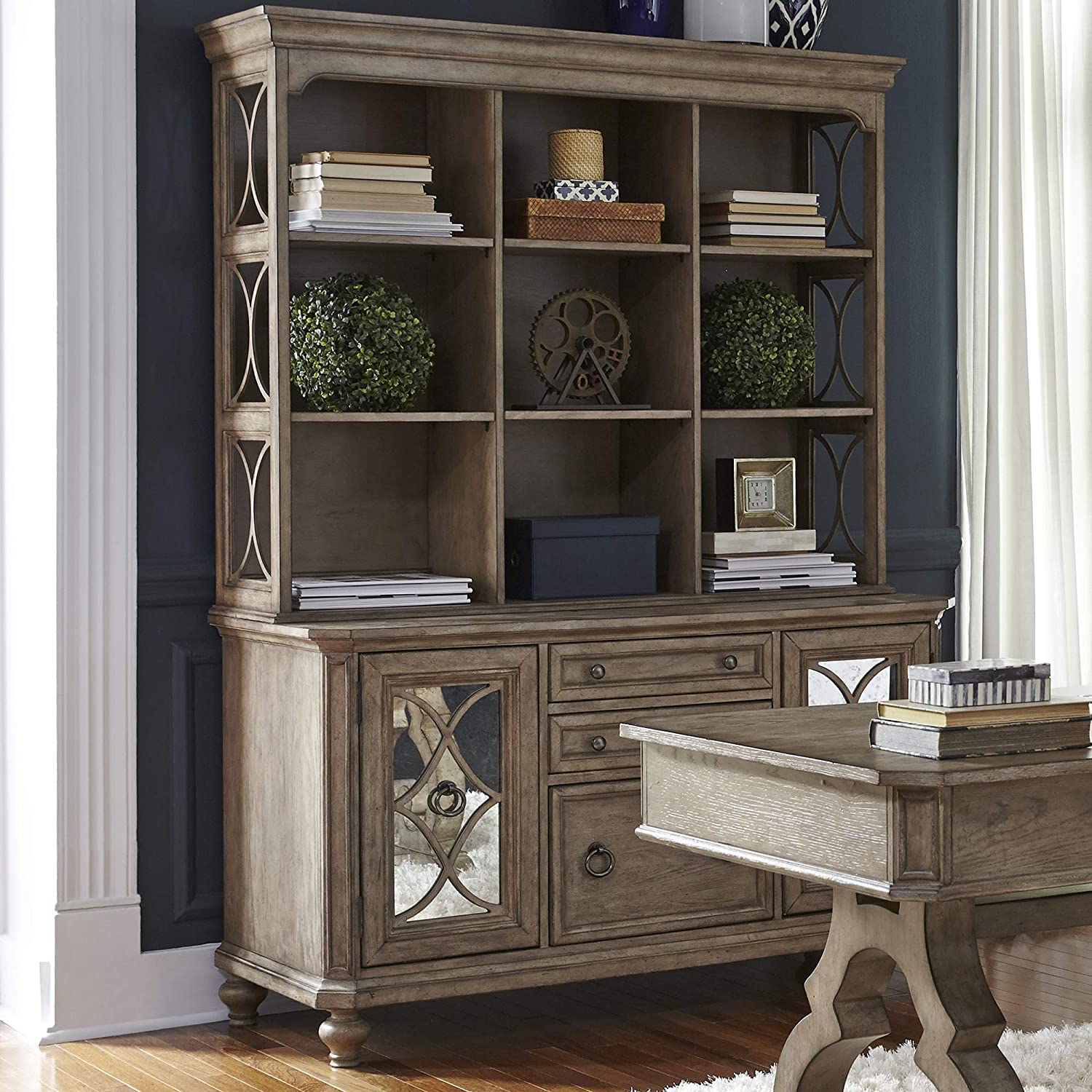 Liberty Furniture Simply Elegant Special price for a limited time Credenza W56 Set x D22 Hutch Tampa Mall