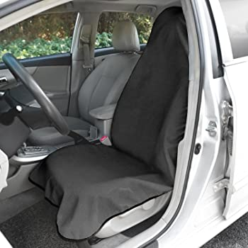 Leader Accessories Grey Waterproof Towel Auto Car Seat Cover Machine Washable Fit Yoga Running Crossfit Athletes Beach Swimming Outdoor Sports