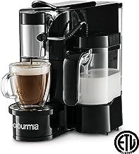 Gourmia GCM5500 1 Touch Automatic Espresso Cappuccino & Latte Maker Coffee Machine - Brew, Froth Milk, and Mix Into Cup, Black