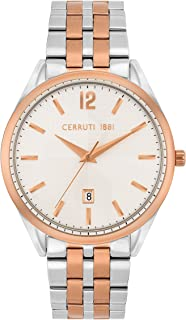 Cerruti 1881 Agriano Analogue Silver And Rose Gold Case, Silver Dial And Silver And Rose Gold Stainless Steel Watch For Me...