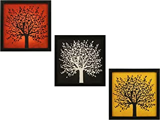 INDIANARA 3 PIECE SET OF FRAMED WALL HANGING DECOR MODERN ART(1066) PRINTS 8.7 INCH X 8.7 INCH WITHOUT GLASS