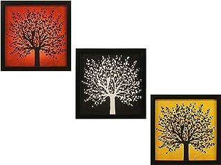 Indianara Engineered Wood Abstract WALL HANGING DECOR ART, Multicolour, Modern, 23 cm x 23 cm x 4.5 cm