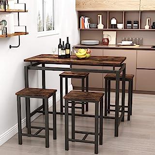 Recaceik 5 PCS Dining Table Set, Modern Kitchen Table and...
