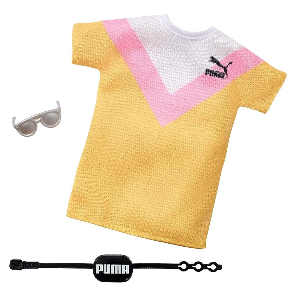 ルーム名誉あるアドバイスバービー服: プーマ衣装人形 2つのアクセサリー付き Tシャツ